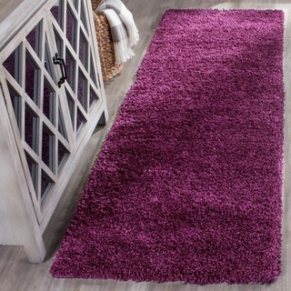 safavieh california cozy plush purple shag rug 2u00273 x