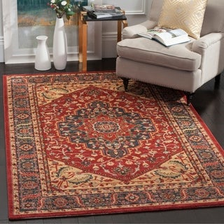 Safavieh Mahal Traditional Grandeur Navy/ Red Rug (6'7 x 9'2)