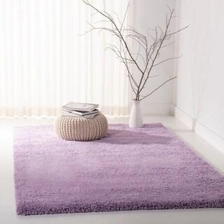 Safavieh California Cozy Solid Lilac Shag Rug (6'7 x 9'6)