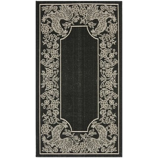 Safavieh Rooster Black/ Sand Indoor/ Outdoor Rug (2' x 3' 7)