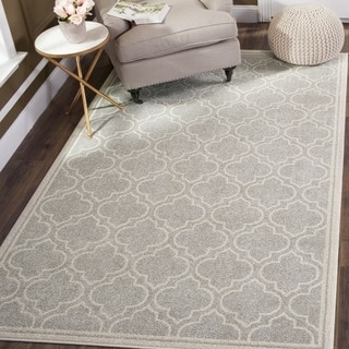 Safavieh Indoor/ Outdoor Amherst Light Grey/ Ivory Rug (11' x 16')