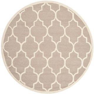 Safavieh Handmade Cambridge Beige/ Ivory Wool Rug (10' Round)