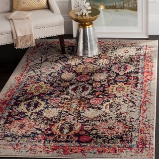 Safavieh Monaco Vintage Abstract Grey / Multi Distressed Rug (9' x 12')
