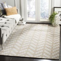 Safavieh Handmade Cambridge Grey/ Taupe Wool Rug - 5' x 7'