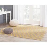 Safavieh Handmade Cambridge Taupe/ Gold Wool Rug - 8' x 10'