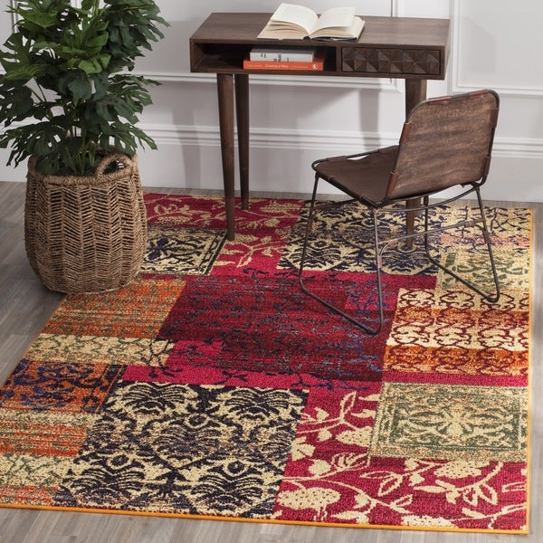 Safavieh Monaco Bohemian Patchwork Multicolored Distressed Rug (9' x 12')