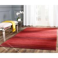 Safavieh Hand-woven Marbella Red Wool Rug (2'3 x 10')