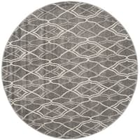 Safavieh Indoor/ Outdoor Amherst Grey/ Light Grey Rug - 5' Round