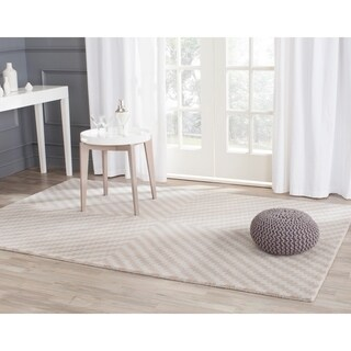 Safavieh Handmade Cambridge Grey/ Ivory Wool Rug (5' x 7')