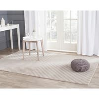 Safavieh Handmade Cambridge Grey/ Ivory Wool Rug - 5' x 7'