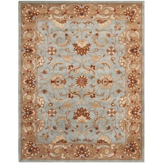 Safavieh Handmade Heritage Timeless Traditional Blue/ Beige Wool Rug (9' x 12')