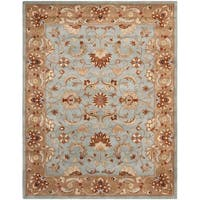 Safavieh Handmade Heritage Timeless Traditional Blue/ Beige Wool Rug - 9' x 12'