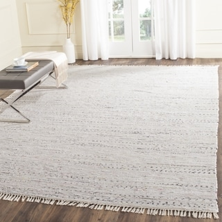 Safavieh Hand-woven Rag Rug White/ Multi Cotton Rug (4' Square)