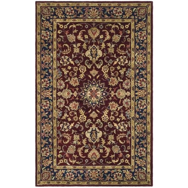 Safavieh Handmade Classic Burgundy/ Navy Wool Rug - 9' x 12'