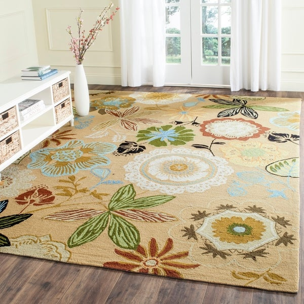 Safavieh Hand-Hooked Four Seasons Taupe/ Multicolored Rug - 8' x 10'