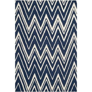 Safavieh Handmade Cambridge Navy/ Ivory Wool Rug (9' x 12')|https://ak1.ostkcdn.com/images/products/9508971/P16688165.jpg?impolicy=medium