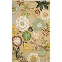 Safavieh Hand-Hooked Four Seasons Taupe/ Multicolored Rug - 5' x 7'