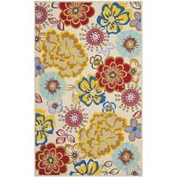 Safavieh Hand-Hooked Four Seasons Ivory / Multi Polyester Rug - 5' x 7'