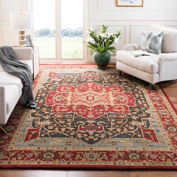 Safavieh Mahal Traditional Grandeur Red/ Red Rug - 8' x 11'