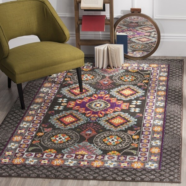 Safavieh Monaco Bohemian Brown Multicolored Rug 9 X 12