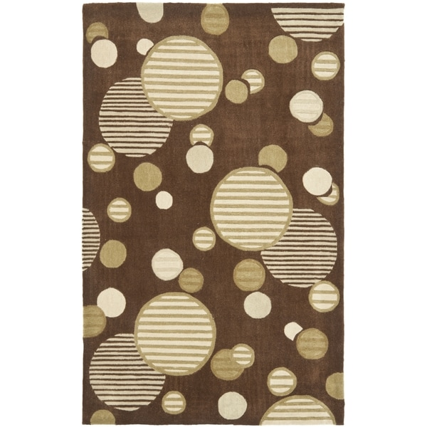 Safavieh Handmade Modern Art Galaxy Brown/ Multicolored Polyester Rug (9' x 12')