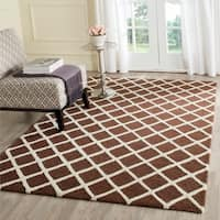 Safavieh Handmade Cambridge Dark Brown/ Ivory Wool Rug - 9' x 12'