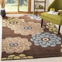 Safavieh Handmade Modern Art Daisies Brown/ Multicolored Polyester Rug - 9' x 12'