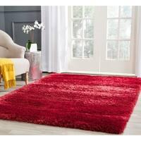 Safavieh Charlotte Shag Red Plush Polyester Rug - 4' x 6'