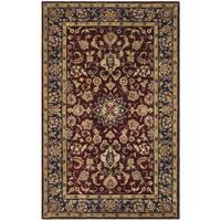 Safavieh Handmade Classic Burgundy/ Navy Wool Rug - 8' x 10'