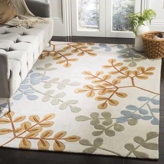 Safavieh Handmade Modern Art Serenity Ivory/ Multicolored Polyester Rug (9' x 12')