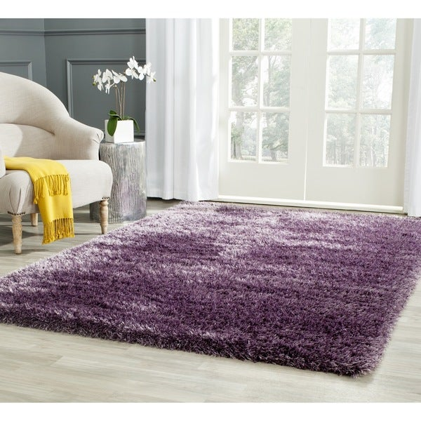 Safavieh Charlotte Shag Lavender Plush Polyester Rug