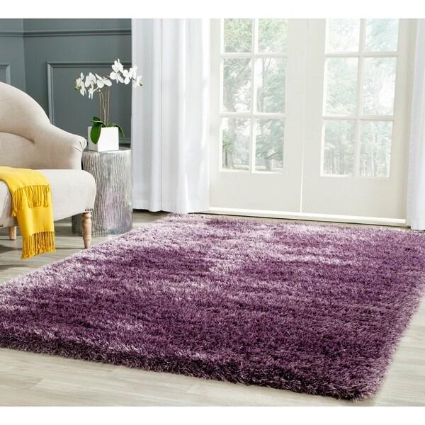 Shop Safavieh Charlotte Shag Lavender Plush Polyester Rug
