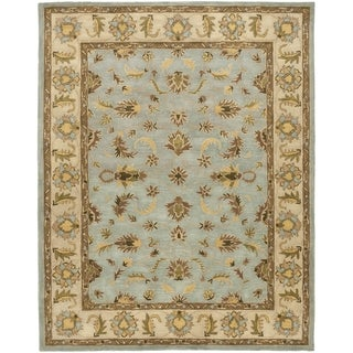 Safavieh Handmade Heritage Timeless Traditional Light Blue/ Beige Wool Rug (8' x 10')