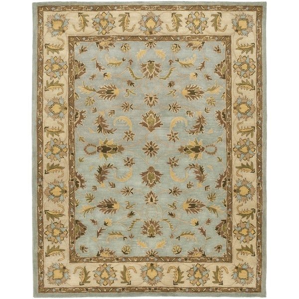 Safavieh Handmade Heritage Timeless Traditional Light Blue/ Beige Wool Rug - 8' x 10'