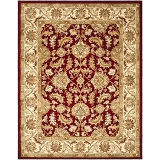 Safavieh Handmade Heritage Traditional Kashan Red/ Ivory Wool Rug (8' x 10')