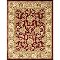 Safavieh Handmade Heritage Traditional Kashan Red/ Ivory Wool Rug - 8' x 10'