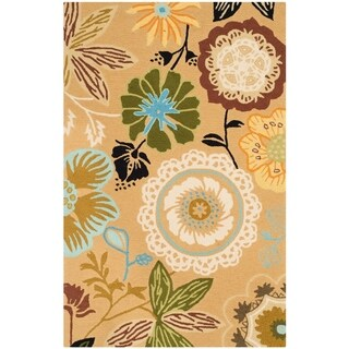 Safavieh Hand-Hooked Four Seasons Taupe/ Multicolored Rug (4' x 6')