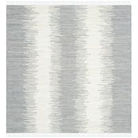 Safavieh Hand-woven Montauk Grey Cotton Rug - 4' Square