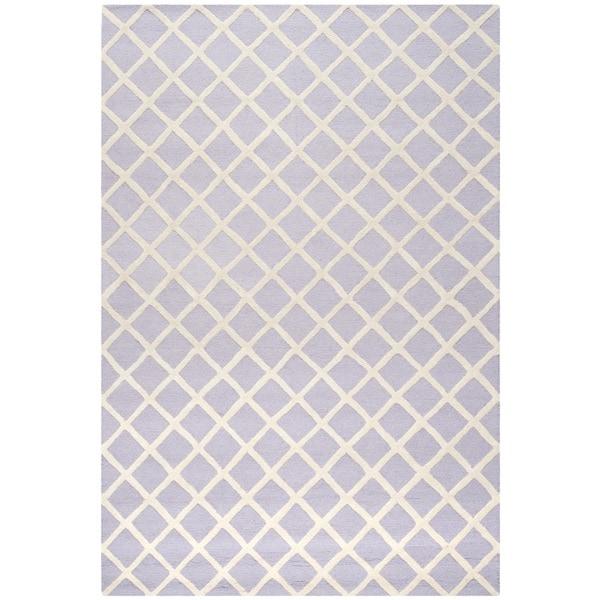 Safavieh Handmade Cambridge Lavender/ Ivory Wool Rug - 9' x 12'