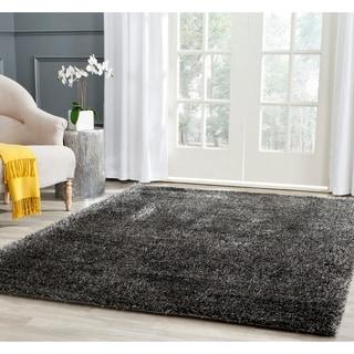 Safavieh Charlotte Shag Charcoal Plush Polyester Rug (4' x 6')