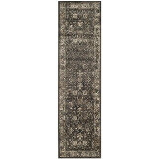 Safavieh Antiqued Vintage Soft Anthracite Viscose Runner (2'2 x 16')