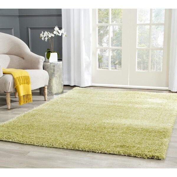 Safavieh Charlotte Shag Green Plush Polyester Rug (5'1 x 7'6)