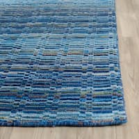Safavieh Handmade Himalaya Blue/ Multicolored Wool Stripe Rug (3' x 5')