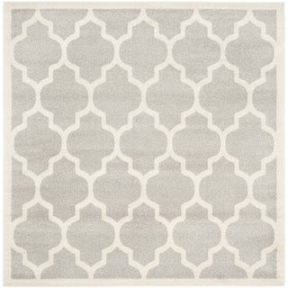 Safavieh Indoor/ Outdoor Amherst Light Grey/ Beige Rug (5' Square)