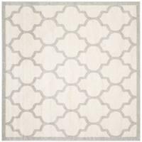 Safavieh Indoor/ Outdoor Amherst Beige/ Light Grey Rug - 5' Square