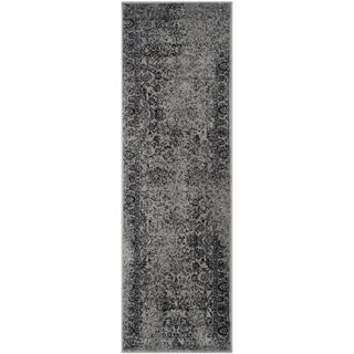 Safavieh Adirondack Vintage Distressed Grey / Black Runner Rug (2'6 x 12')