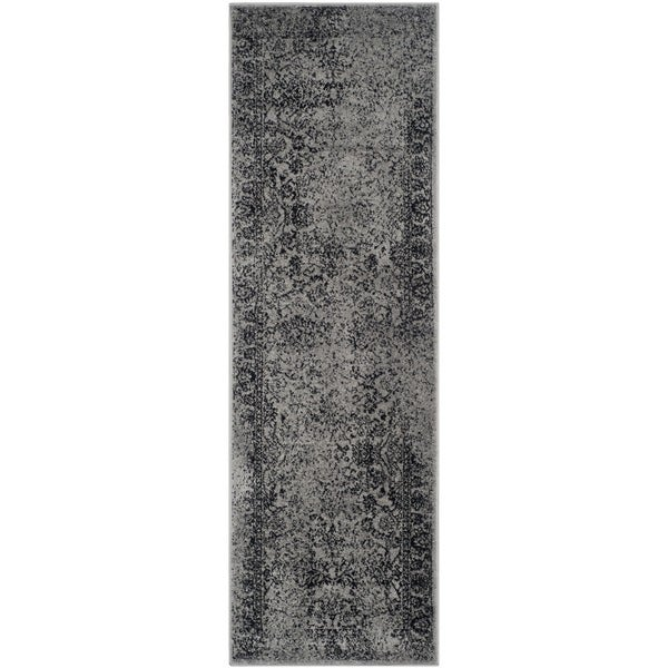 Safavieh Adirondack Vintage Distressed Grey / Black Runner Rug (2'6 x 12')
