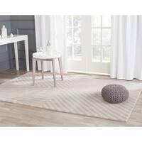 Safavieh Handmade Cambridge Grey/ Taupe Wool Rug - 4' x 6'