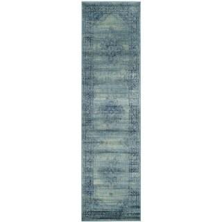 Safavieh Vintage Oriental Turquoise Distressed Silky Viscose Runner (2'2 x 16')