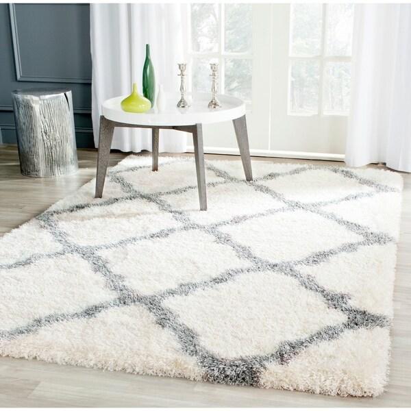 Safavieh Montreal Shag Ivory/ Grey Polyester Rug - 8' x 10'